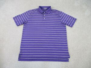 Peter-Millar-Polo-Shirt-Adult-Extra-Large-Purple-Yellow-Summer-Comfort-Mens-B13