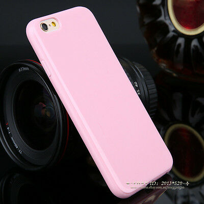 For iPhone 5s 5c 6 Plus Back Cover Slim Soft Gel TPU Silicon Glossy Phone Case