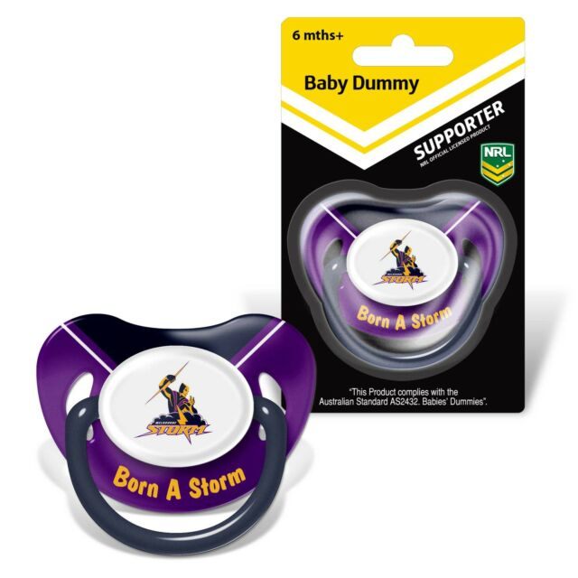 Melbourne Storm NRL Infant Baby Dummy Pacifier Baby TEAM Logo Gift