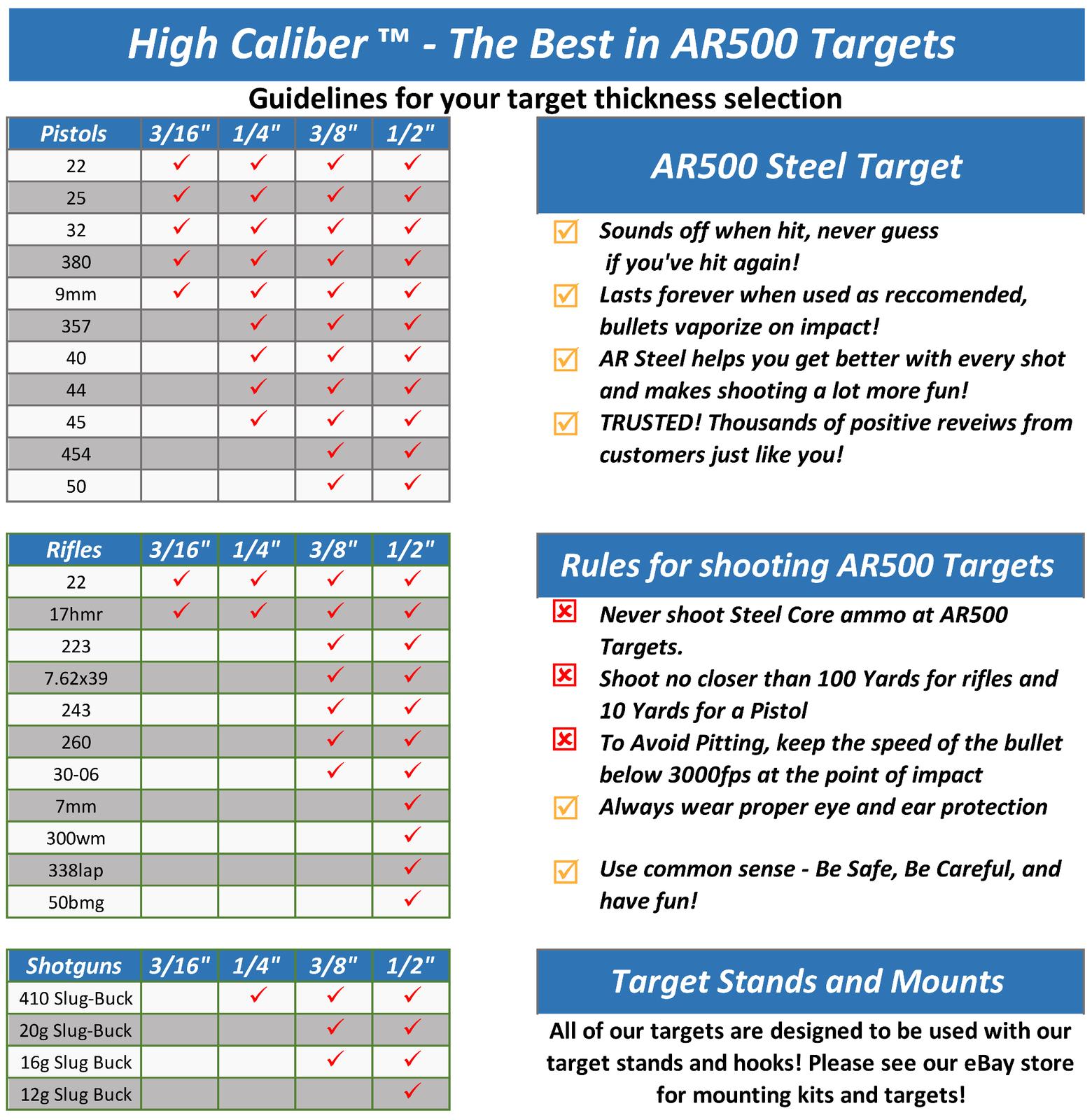Juego de 2 Acero AR500 10 10 10  X objetivos de disparo 3 8  estilo Gong 4005f1