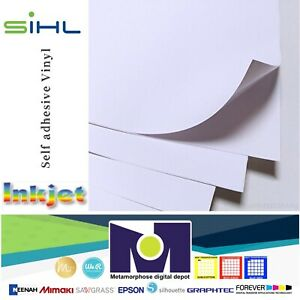 photo regarding Printable Vinyl Decals named Information and facts more than SIHL Inkjet Printable White STICKER Vinyl GLOSS Do-it-yourself 5 Sh, 8.5\