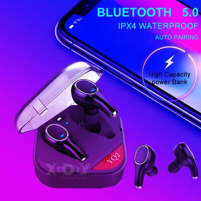 Schwarz 60 Stunden Spielzeit Eariy Stereo Surround Twin Bluetooth 5.0 Headset Mit Led Power Display Kompatibel Mit Samsung//Iphone//Huawei//Android Ipx7 Wasserdicht Mit Mikrofon Und Ladebox