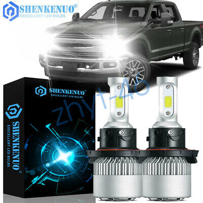 H13 9008 Led Luces Headlight Bulbs Kit Ford F250 F350 F150 High /& Low Dual Beam