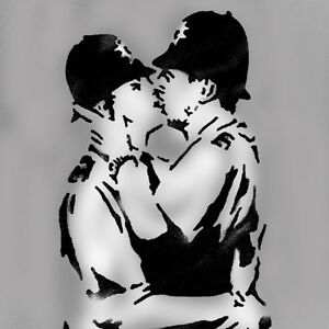 Banksy-Kissing-Coppers-Stencil-Paint-Reusable-Banksy-Stencils-Home-Wall-Decor