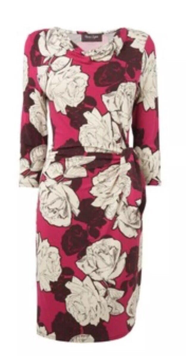 BNWT Phase Eight  8 Lula Rosa Jersey Dress Größe 16 Multi Colour