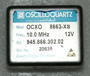 Details about 10 MHz Double Oven OCXO sinewave 8663-XS +12V