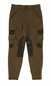 Ralph Lauren Black Label Wool Leather Cargo Riding Pants New $1298 ...