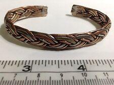 Copper, Brass + White Metal Medicine Cuff Bracelet. Free Shipping in USA !