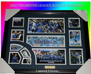 NEW!! CHELSEA FC 2012 CHAMPIONS LEAGUE & EA CUP WINNERS LIMITED EDITION w/C.O.A