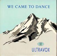 """ULTRAVOX we came to dance/overlook VOX 1 uk chrysalis 1983 7"""" PS EX/EX"""