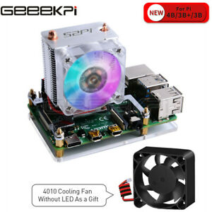 Heatpipe Tower Fan Acrylic Plate Raspberry Pi 4 ICE-Tower Cooling Fan RGB 7 c