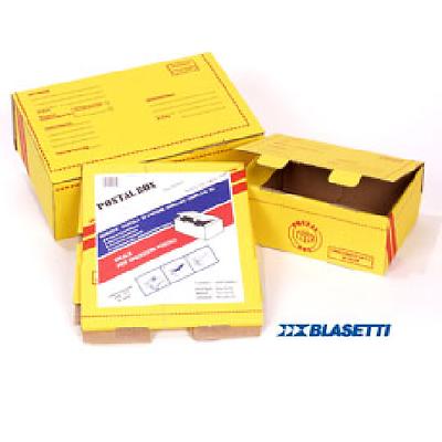 Scatola Spedizioni Postal Box Unico Pezzo Giallo Marca Blasetti Varie Misure E Avere Una Lunga Vita