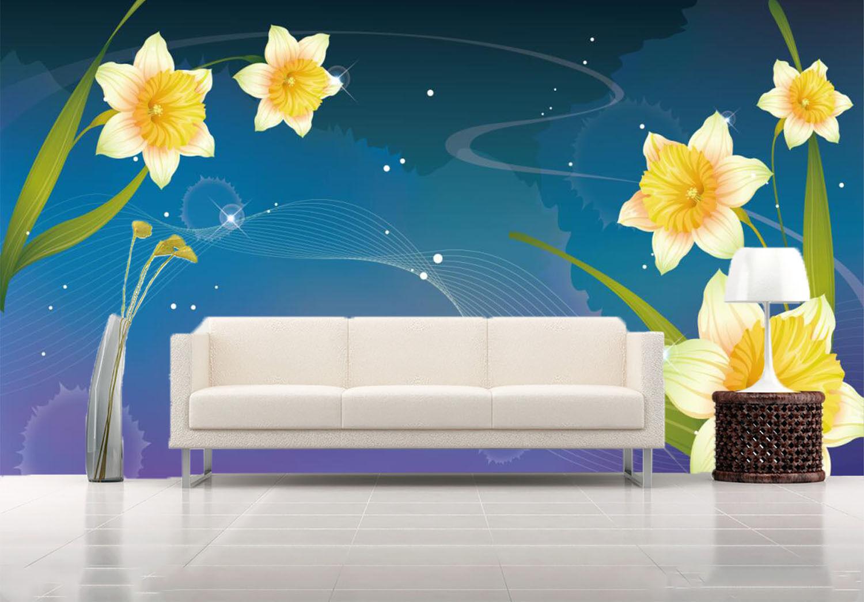 3D Beautiful Flowers Yellow 772 Wall Paper Wall Print Decal Wall AJ WALLPAPER CA
