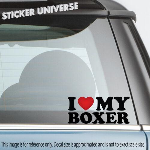 I Love My Boxer Car Window Decal Bumper Sticker Dog Breed Purebred Puppy Pet 189