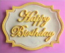 SILIKON 3D BACKFORM HAPPY BIRTHDAY 3 FONDANT TORTE AUSSTECHFORM DEKO GEBURTSTAG