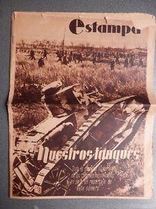 PERIoDICO-REPUBLICANO-LA-ESTAMPA-1-MAYO-1937-ESPECIAL-TANQUES-Y-BATALLAS-FOTOS