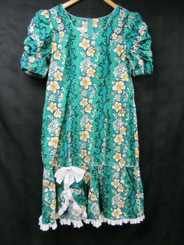 Vintage T & L MuuMuu Factory Hawaiian Dress Hibisc