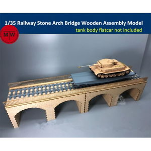 1/35 TMW Stone Arch Railway Bridge Laser Cut Wood Kit