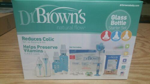 Brown/'s Baby Bottle Natural Flow Glass Bottle Set Dr