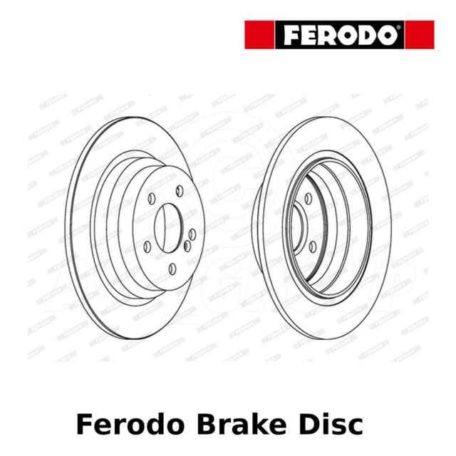 Ferodo Disque de Frein Arrière (Paire) - 300mm,Uni - DDF1308 - Qualité Fabricant