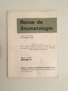 Rivista Di Stomatologia Volume 66 N° 10-11 Masson E Cie Ottobre Novembre 1965