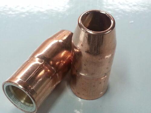 2 x Flush Fit 770404 MIG Nozzles For Hobart H10 Handler 125 135 140 175 180 187