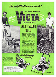 Victa-18-034-Mower-Foldaway-Handle-Metal-Reprod-Sign-456