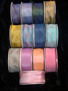 VINTAGE-1-5-034-FRENCH-VISCOSE-RIBBON-with-WIRE-1-yard-Made-in-France