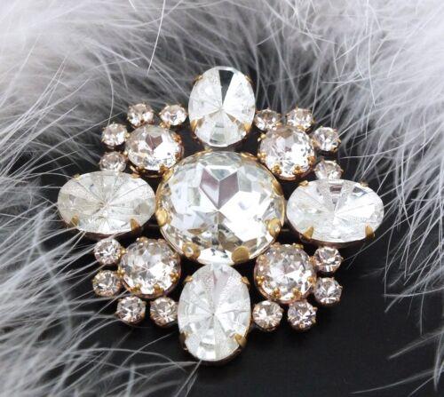 Strassbrosche Crystal//Kristallklar · Unikat aus Gablonz//Böhmen · swa315