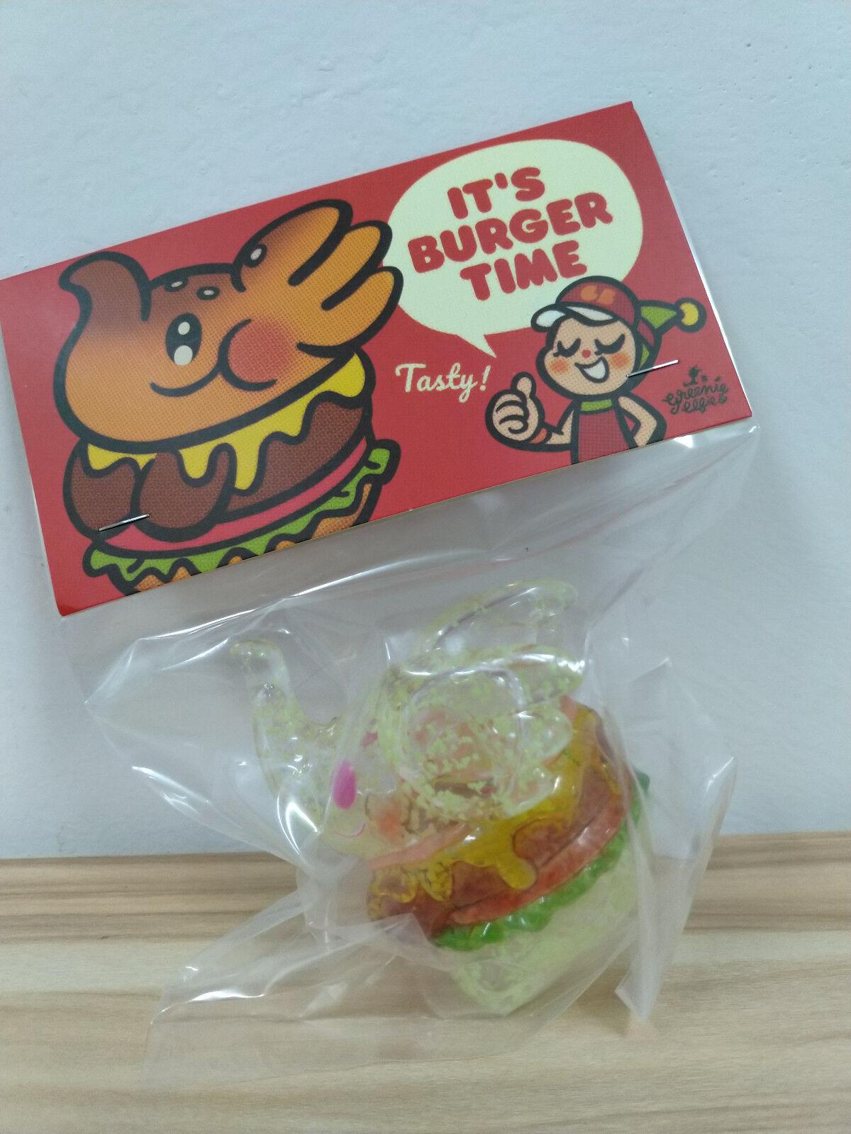 Unbox verdâtre & Elfie éléphant Burger Figurine en vinyle transparent GID GLOW FLAKE