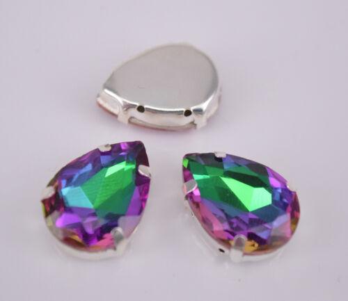 50 piezas diamantes de imitación de Cristal Vidrio Lágrima Color facetado granos jewelrys Hazlo tú mismo