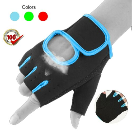 Fitness Gym Sports Gloves Weight Lifting finger Less Training women Cycling Mit