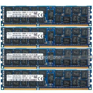 Hynix-64GB-4x16GB-2RX4-PC3L-12800R-DDR3-1600MHz-240Pin-ECC-REG-Server-Memory-RAM