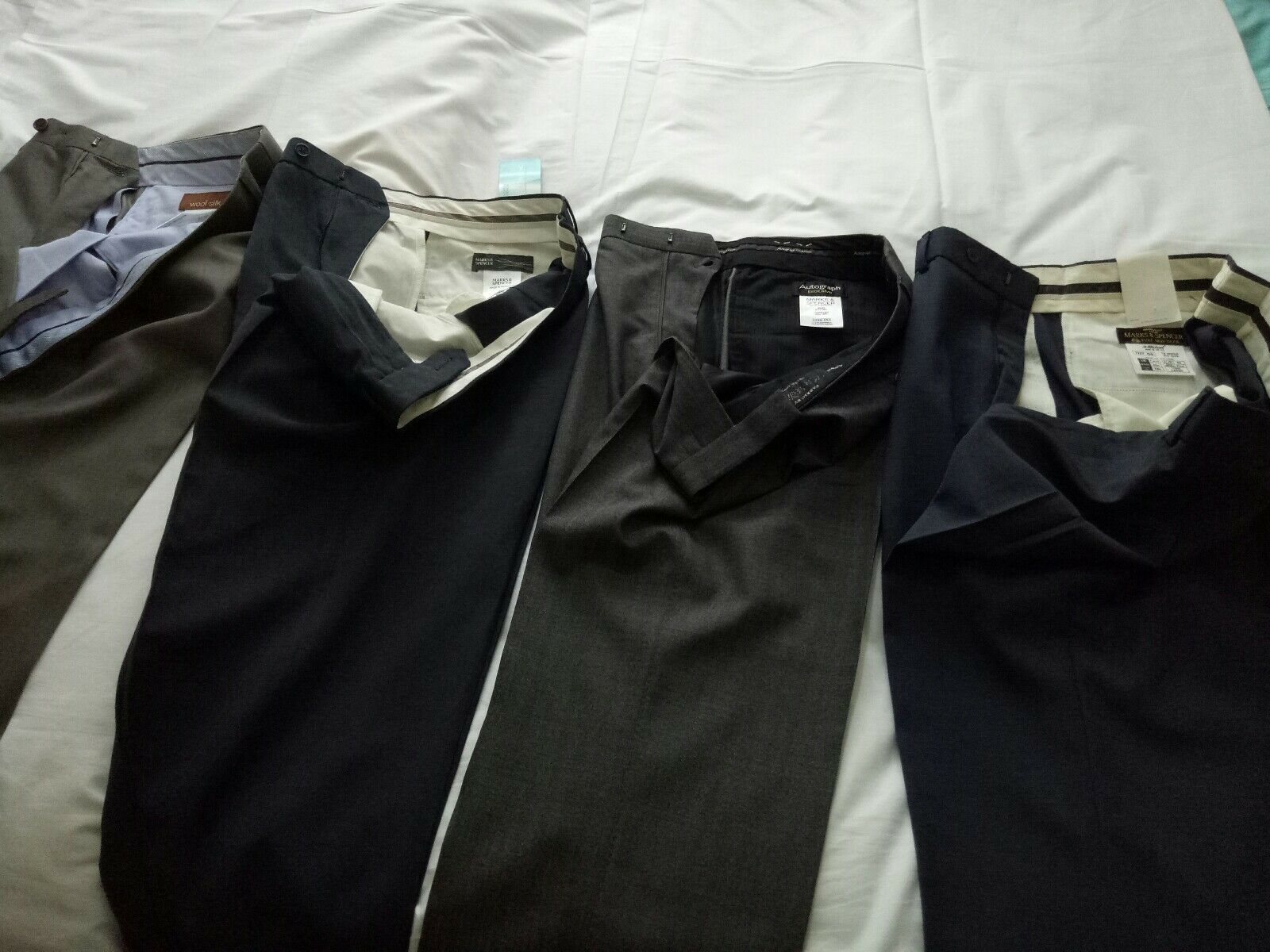 Mens marks and spencer trousers 32w 31l