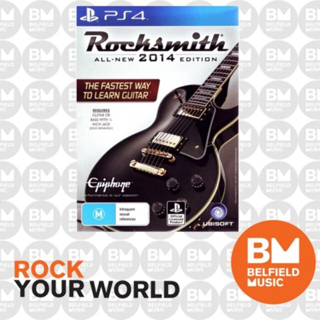 PS4 Rocksmith 2014 With Real Tone Cable - PLAYSTATION Game- Learn to Play Guitar