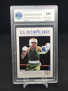 1992-IMPEL-OLYMPIC-OSCAR-De-La-HOYA-BOXING-PCG-10-PRISTINE-ROOKIE-PSA-BGS