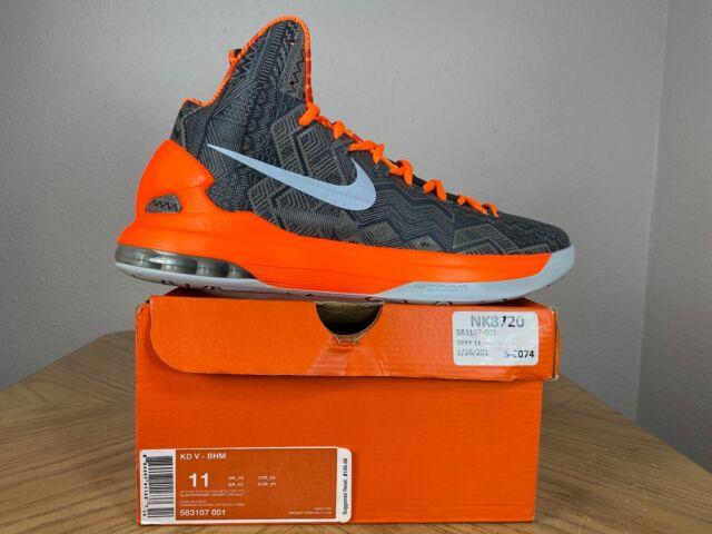 Men's Nike Zoom KD V 5 BHM Black Gray