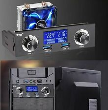 """5.25"""" Bay USB 3.0 LCD Front Panel Fan Speed Controller & CPU Temperature Sensor"""