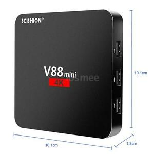 SCISHION V88 mini Smart TV Box QuadCore Android 6.0 WiFi H.265 VP9 4K HD2.0 L7Q5