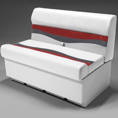 """Red and Charcoal 38/"""" Pontoon Boat Seat In Gray"""