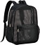 thumbnail 1 - Heavy Duty Semi-Transparent Mesh Backpack, See Through College Student Backpack