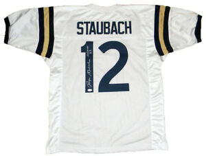 762a0a017bd Image is loading ROGER-STAUBACH-AUTOGRAPHED-NAVY-MIDSHIPMEN-12-WHITE-JERSEY-