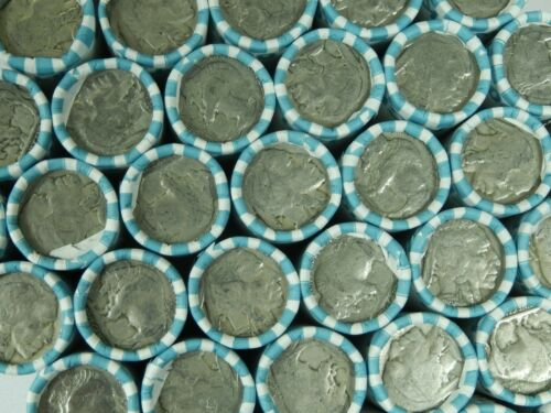 $1 Buffalo Nickel Half Roll Unopened Old US Coins 5c Mixed Lot Nickels Short