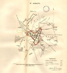 ST ALBANS borough/town/city plan. REFORM ACT. Hertfordshire. DAWSON ...