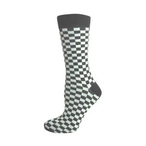 BLACK-amp-WHITE-CHECK-MENS-ANKLE-SOCKS-SIZE-UK-6-11-two-tone-Specials-Ska-Madness