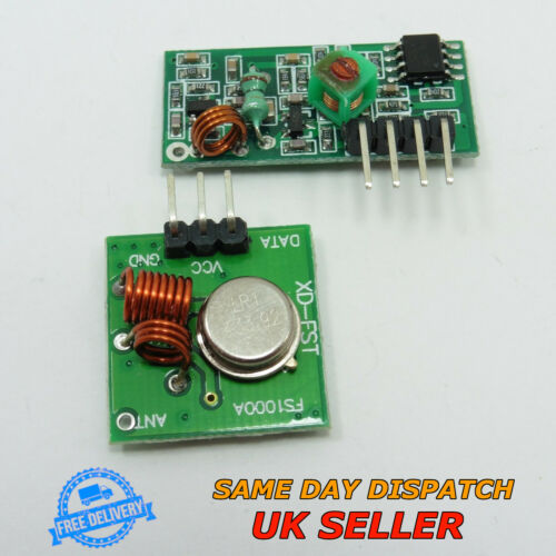 Sans fil RF 12 V émetteur et récepteur 5 V Module 433 MHz 433 M Framboise Arduino