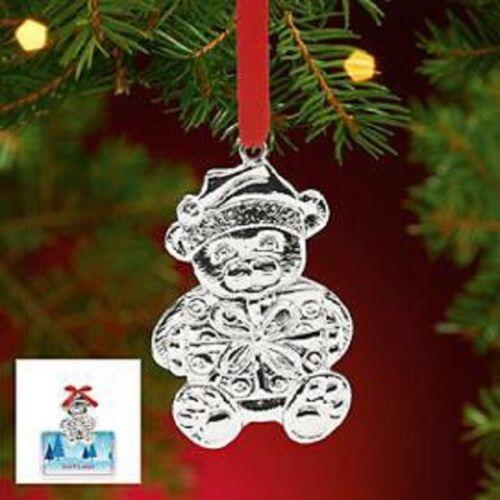 Lenox Holiday Holders Teddy Bear Gift Card Holder Ornament Plated ...