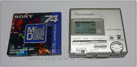 Minidisc MD Panasonic SJ-MR100 Silver Portable Player Recorder Optical Line-IN