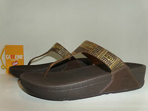 756d69b40e5d Image is loading FITFLOP-authentic-AZTEC-CHADA-Soft-Leather-slideOn-Thong-