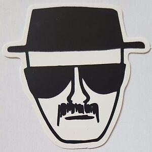 Image Is Loading Heisenberg Breaking Bad Sticker Black White Hat Approx